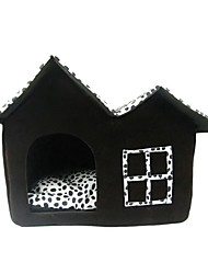 hesapli -Köpekler Kediler Yataklar Evcil Hayvanlar Astarlar Yuvarlak Noktalı Taşınabilir Kamp & Yürüyüş Çadır Kahve Evcil hayvanlar için
