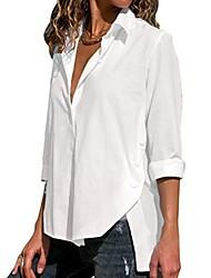levne -Dámské - Jednobarevné Košile Bílá M
