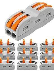 Недорогие -ZDM® 10 шт. Аксессуары для ламп / Газонокосилка Пластиковые & Металл Электрический разъем для светодиодной полосы света