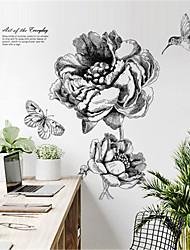 povoljno -nordijske moderne minimalističke ručno oslikane cvjetne zidne naljepnice kreativna osobnost spavaća soba dekoracija naljepnice dnevni boravak samoljepivi zidni papir