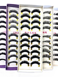billiga -Ögonfrans 9999 pcs Ultra Lätt (UL) Ledigt / vardag Fiber Bröllopsfest Dagliga kläder Festival Nedre ögonfransar Övrigt Tjock - Smink Vardagsmakeup Festmakeup Trendig Special Kosmetisk Skötselprodukter
