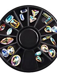 voordelige -22 pcs Klassiek / Zeer transparant Kristal Nagelsieraden Voor Vingernagel Sieraden Series Nagel kunst Manicure pedicure Dagelijks / Festival Modieus / Kleurrijk