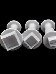 hesapli -3adet Silikon Yaratıcı Mutfak Gadget Mutfak Yenilik Araçları Tatlı Araçlar Bakeware araçları