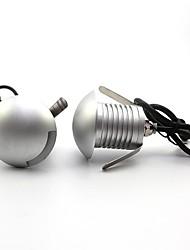 halpa -ONDENN 2pcs 3 W LED-valonheittimet / Vedenalaiset valaisimet / Lawn Valot Vedenkestävä / Luova / Himmennettävissä Lämmin valkoinen / Kylmä valkoinen 12 V Ulkovalaistus / Uima-allas / Piha 1 LED-helmet