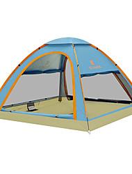 رخيصةأون -KEUMER 4 شخص خيمة التخييم العائلية في الهواء الطلق ضد الهواء مكتشف الأمطار يمكن ارتداؤها طبقة واحدة أوتوماتيكي خيمة التخييم 1500-2000 mm إلى Camping / Hiking / Caving تنزه كربون فيبر قماش اكسفورد