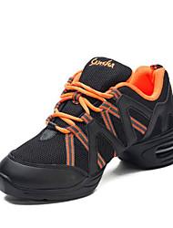 olcso -Női Jazz cipők Háló Sportcipő Vastag sarok Dance Shoes Narancssárga