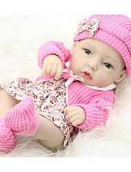 Недорогие -FeelWind Куклы реборн Девочки 12 дюймовый Полный силикон для тела - Дети / подростки Детские Универсальные Игрушки Подарок
