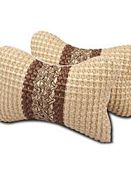 Недорогие -автомобиль лед шелковая подушка головы автомобиль подушки для шеи и шеи 1 пара