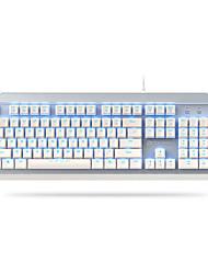 levne -DAREU EK822 USB kabel mechanické klávesnice Svítící Mechanický Modrá podsvícení 104 pcs Klíče