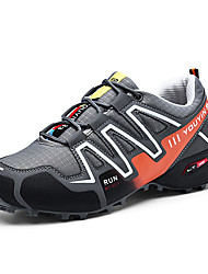 cheap -Men's Light Soles Synthetics Spring Sporty / Casual Athletic Shoes Running Shoes / Hiking Shoes Non-slipping Color Block Black / Dark Blue / Gray