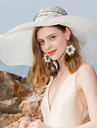 cheap -100% Linen Hats with Bowknot / Lace 1pc Special Occasion / Party / Evening Headpiece