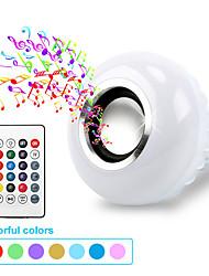 Недорогие -Smart E27 RGB Bluetooth-динамик светодиодная лампа 7 Вт музыка играет с регулируемой яркостью беспроводной светодиодной лампы с 24 клавишами дистанционного управления