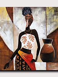halpa -Painettu Pingoitetut kanvasprintit - Abstrakti Ihmiset Moderni