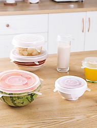 Недорогие -Высокое качество с Силикон Столовые приборы / Хранение сыпучих продуктов Повседневное использование Кухня Место хранения 6 pcs