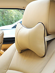 Недорогие -1 пара автомобиля подушка шеи подголовник серии костная подушка перфорирующий дизайн искусственная кожа подголовник авто безопасности аксессуары