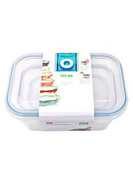 billige -Høy kvalitet med Plastikker Oppbevaringskasser Dagligdags Brug Kjøkken Oppbevaring 3 pcs