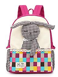 お買い得  -女の子 バッグ キャンバス キッズバッグ ジッパー グリーン / ルビーレッド / フクシャ