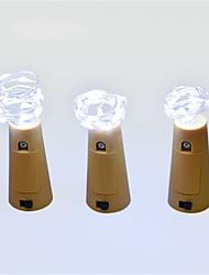 Недорогие -Новинка 2м светодиодная гирлянда из медной проволоки строка сказочные огни для стеклянной бутылки ремесла новый год рождество валентинки свадебный декор