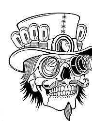 זול -כובע פיראטים גולגולת קיר מדבקה דקורטיביים ליל כל הקדושים אמנות טפט