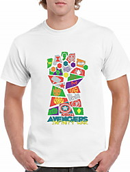 billige -Herre - Geometrisk T-shirt Hvid XL