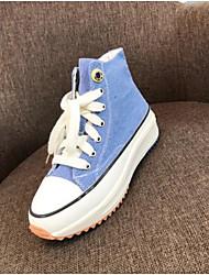 abordables -Mujer Zapatos de hip hop y baile callejero Vaquero Zapatilla Tacón Plano Zapatos de baile Amarillo / Azul / Rosa