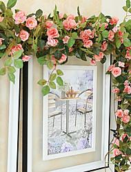 levne -Umělé květiny 1 Větev Pozastaveno Svatba Pastýřský Styl Růže Květina na zeď