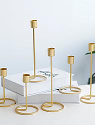 billige -Moderne Moderne / Europeisk Stil Jern Lysestaker Lysestake 2pcs, Stearinlys / Stearinlysholder