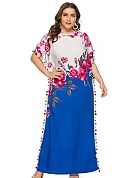 Недорогие -женское платье макси-слип синее l xl xxl xxxl
