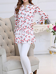 hesapli -Kadın's Bluz Geometrik Doğal Pembe XL
