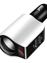 Недорогие -многофункциональное автомобильное зарядное устройство прикуриватель многофункциональный цифровой дисплей напряжения двойной USB автомобильное зарядное устройство черный