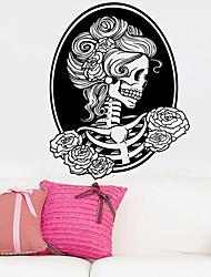 Недорогие -смерть девушка череп стикер стены декоративные хэллоуин арт обои