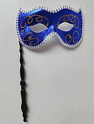 preiswerte -Superheld Cosplay Kostüme Maske Kinder Erwachsene Herrn Cosplay Halloween Halloween Karneval Maskerade Fest / Feiertage Kunststoff Blau / Golden / Fuchsia Karneval Kostüme Patchwork