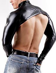 """Недорогие -Блестящие костюмы на все тело """"зентай"""" Кожаный костюм Мотоцикл Мужчины Взрослые Латекс Косплэй костюмы Косплей Хэллоуин Муж. Черный Однотонный Хэллоуин Маскарад / Кофты / Эластичность"""