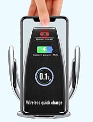 Недорогие -Беспроводное автомобильное зарядное устройство для телефона и кондиционера. Гравитационная подставка. Инфракрасный датчик беспроводной зарядки.