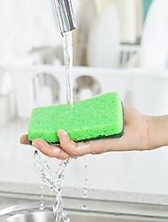 hesapli -Mutfak Temizlik malzemeleri Naylon mikrofiber Sünger polyester elyaf Sünger ve Ovma Pedi Yeni Dizayn Koruma Araçlar 1set