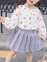 hesapli -Bebek Genç Kız Temel Desen Uzun Kollu Pamuklu Bluz Doğal Pembe