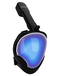 Недорогие -Маска для снорклинга Полнолицевые Единое окно - Дайвинг Силикон - Назначение Взрослые Синий / С защитой от протекания / Противо-туманное покрытие / Сухая трубка