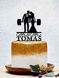Недорогие -Украшения для торта Классика / Креатив / Свадьба На заказ / Романтика Акрил Свадьба / День рождения с Однотонные 1 pcs Пенополиуретан