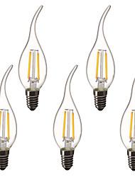 Недорогие -5 шт. 1.5 W LED лампы в форме свечи LED лампы накаливания 200 lm E14 C35L 2 Светодиодные бусины Высокомощный LED Декоративная Тёплый белый 220-240 V 220 V 230 V