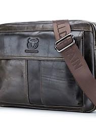 abordables -Homme Sacs Cuir de Vachette Sac à Bandoulière Fermeture Couleur unie Noir / Jaune / Bronze