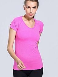 olcso -Női Póló - Egyszínű Arcpír rózsaszín M