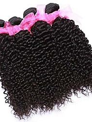 cheap -6 Bundles Brazilian Hair Kinky Curly 100% Remy Hair Weave Bundles Natural Color Hair Weaves / Hair Bulk Bundle Hair One Pack Solution 8-28 inch Natural Color Human Hair Weaves Soft Hot Sale Fashion