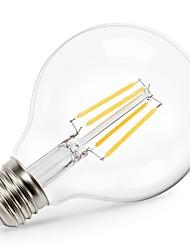 halpa -1kpl edison led maapallolamppu g80 lämmin valkoinen 2700k kylpyhuone turhamaisuus lamppu 4w (40w vastaava) e26 / e27 base lämmin valkoinen 220v