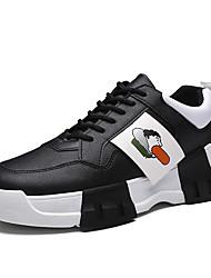 رخيصةأون -رجالي أحذية الراحة PU للربيع والصيف رياضي أحذية رياضية الركض ارتداء إثبات أبيض / أسود / أحمر