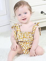 お買い得  -赤ちゃん 女の子 ベーシック フラワー ノースリーブ ポリエステル ワンピース ピンク