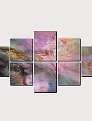 billige -Trykk Valset lerretskunst - Abstrakt Dyr Klassisk Moderne Fem Paneler