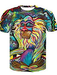 billige -Herre - Dyr T-shirt Regnbue XXL