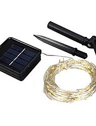 hesapli -10 m dize ışıkları 100 leds 1 takım montaj braketi sıcak beyaz soğuk beyaz rgb su geçirmez güneş parti güneş enerjili 1 takım