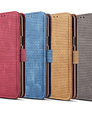 cheap -Case For Samsung Galaxy A8 2018 Card Holder / Flip Full Body Cases Solid Colored Hard PU Leather for A8 2018