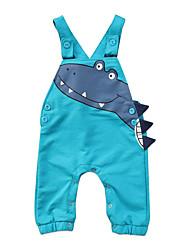 billige -Baby Gutt Aktiv Trykt mønster Ermeløs Bomull / Spandex Kjeledress og jumpsuit Grønn